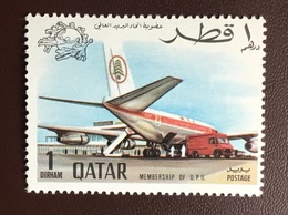 Qatar 1970 UPU Aircraft From Set MNH - Qatar