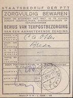 Nederland - ITEP 1952 - Bewijs Van Terpostbezorging - Stempel 6 VII 1952 - ITEP 1852-1952 - HPN B22 - 8 - Period 1949-1980 (Juliana)