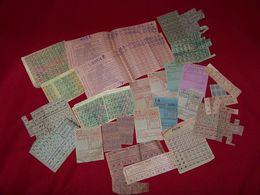 Lot De Divers Tickets De Rationnement Guerre De 1940 / 1945 ....en Be... - Otros