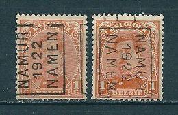 2789 Voorafstempeling Op Nr 135 - NAMUR 1922 NAMEN - Positie A & B - Préoblitérés