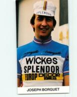 Joseph BORGUET , Carte Format 6 X 11 Cm . Cyclisme. Wickes Spendor Europ Decor - Radsport
