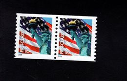 1037187880 SCOTT 3967 POSTFRIS MINT NEVER HINGED EINWANDFREI - FLAG AND STATUE OF LIBERTY PAIR - Etats-Unis