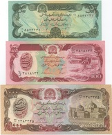 Afghanistan : Lot De 3 Billets UNC 50 - 100 - 1000 Afghanis - Afghanistan