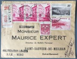 Monaco Lettre Recommandée 1949 - Belle Affranchissement Philatélique - (W1604) - Monaco