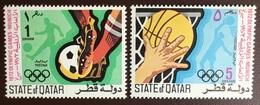 Qatar 1972 Olympic Games 2 Values MNH - Qatar