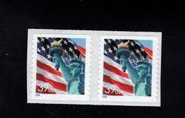1037189380 SCOTT 3981 POSTFRIS MINT NEVER HINGED EINWANDFREI - FLAG AND STATUE OF LIBERTY PAIR - Etats-Unis