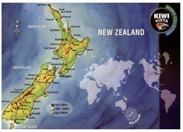 (B 30) New Zealand - Map - Nuova Zelanda
