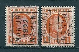 2943 Voorafstempeling Op Nr 190 - NAMUR 1922 NAMEN - Positie A & B (zie Opm) - Préoblitérés