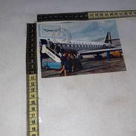 CT11552 GENOVA INTERNATIONAL AIRPORT PASSENGERS BOARD AN ALITALIA CARAVELLE PANORAMA - Genova