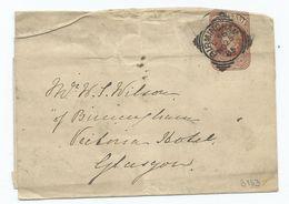 Victoria  Newspaper Wrapper Birmingham C 56    Squared Circle 1885 See Also My Picture  Postcards - Brieven En Documenten