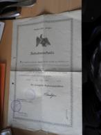 """Deutsches Reich   Preußen """"Aufnahmeurkunde""""  Trier 1931 - Historical Documents"""