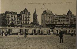 Blankenberge - Blankenberghe // LA Plage Et La Nouvelle Eglise (Niet Standaard) 1910 Zeldzaam Zicht - Blankenberge