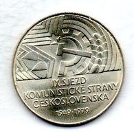 CZECHOSLOVAKIA, 50 Korun, Silver, Year 1979, KM #98 - Tchécoslovaquie