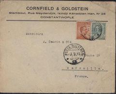 YT Poste Italiane 5ct + 105 Victor Emmanuel III Posta Militare 15  3 9 19 Cornfield Goldstein Constantinople Turquie - Military Mail (PM)
