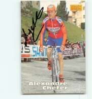 Alexandre CHEFER, Autographe Manuscrit , Carte Format 6.2 X 8.9 Cm . Cyclisme. Scrigno - Cyclisme