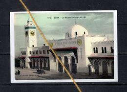 REPRODUCTION  ALGERIE ORAN  GARE PLM STATION BAHNHOF TRAIN TREIN - Oran