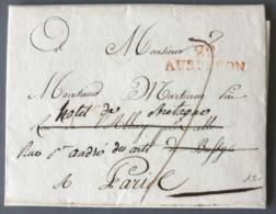 France Griffe Rouge 22 AUBUSSON Sur Lettre 1811 Pour Paris - (W1611) - Marcophilie (Lettres)