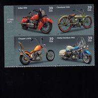 1037192515 SCOTT 4088A POSTFRIS MINT NEVER HINGED EINWANDFREI - MOTORCYCLES BLOCK 4085 FIRST STAMP - Etats-Unis