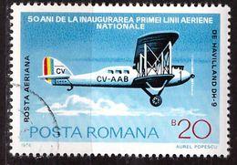 PIA - ROMANIA - 1975 : Posta Aerea -50° Anniversario Della Prima Linea Aerea Nazionale - Aereo DH 9   - (Yv P.A. 239) - Posta Aerea