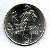 CZECHOSLOVAKIA, 50 Korun, Silver, Year 1988, KM #129 - Tchécoslovaquie