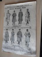 """Katalog """"Kleider-Werke Baer Sohn,Berlin Um Die Jahundert Wende. - Catalogues"""