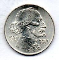 CZECHOSLOVAKIA, 100 Korun, Silver, Year 1971, KM #73 - Tchécoslovaquie