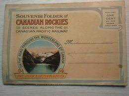 Carnet Souvenir Folder Of CANADIAN ROCKIES Scenesalong The Canadian Pacific Raiway 1919 - Canada