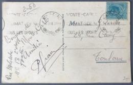 Monaco N°84 Sur CPA 1931 Pour Toulouse - (W1615) - Lettres & Documents