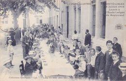 MONTELIMAR - 14 Juillet 1908 - Lunch à L' Ecole Laïque Du Boulevard - Montelimar