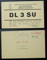 Yugoslavia 1956 Radio Card Ansbach Germany B35 - Jugoslavia