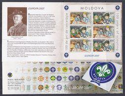Europa Cept 2007 Moldova Booklet  ** Mnh (48453) - Europa-CEPT