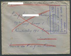 Guerre 39-45 Lettre Front Stalag 170 Compiegne Avec Cachet Retour à L'envoyeur Destinataire A Quitté Le Camp VN547 - Marcophilie (Lettres)