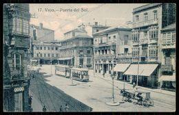 ESPAGNE - VIGO - Puerta Del Sol.  (Ed. Taf. 11 Nº 17)   Carte Postale - Tramways