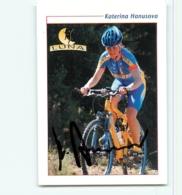 Katerina HANUSOVA, Autographe Manuscrit , Carte Format 6.4 X 8.9 Cm . Cyclisme Féminin. Luna - Cyclisme