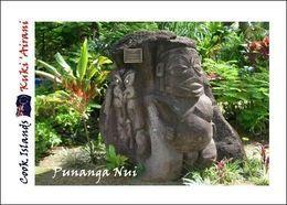 Cook Islands Punanga Nui Market Carving New Postcard Cookinseln AK - Cook Islands