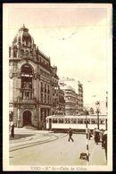 ESPAGNE - VIGO - Calle De Colón.  (Ed.Huecograbado Fournier Nº 20)  Carte Postale - Tramways