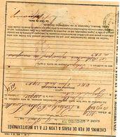 C6  1883 LETTRE Entete Chemin De Fer De Paris A Lyon Et De La Méditérannée - Marcophilie (Lettres)