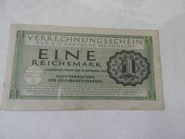 Drittes Reich -Deutsche WehrmachtcVerrechungsschein 1 RM 1944 - Verrechnungsscheine - Dt. Wehrmacht