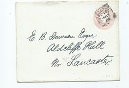 Great Britain Bristol D16   Squared Circle Prepaid Cover   Search Also My Postcards For More Cancels - 1840-1901 (Victoria)