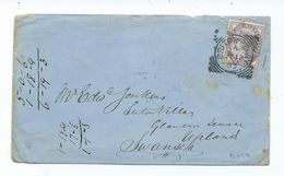 Great Britain Briton Ferry    Squared Circle 1d Lilac Cover   Search Also My Postcards For More Cancels - 1840-1901 (Victoria)