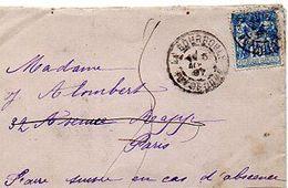 C6  1897 LETTRE La Bourboule  Pour Paris - Marcophilie (Lettres)