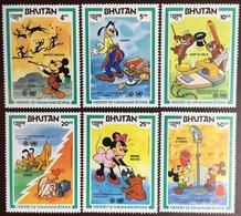 Bhutan 1984 Disney Communications Year 6v MNH - Bhoutan