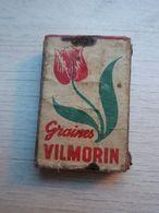 Ancienne Boîte  D'allumettes Graines VILMORIN - Schnupftabakdosen (leer)