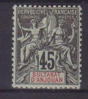 ANJOUAN :  N° 18 * . 1900/07 . ( CATALOGUE YVERT ) . - Anjouan (1892-1912)