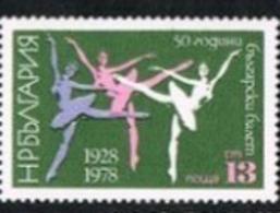 BULGARIA -  SG 2711  - 1978 BULGARIAN BALLET ANNIVERSARY  -   MINT** - Bulgarie