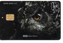 ISN-284 SPAIN PHONECARD ESPAÑA  ISERN SERIE AVES Nº12 BUHO-OWL-CHOUETTE - CARD HOSPITAL TV - Spanien