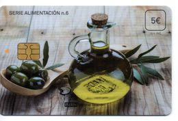 ISN-207 SPAIN PHONECARD ESPAÑA ISERN SERIE ALIMENTACION Nº6 ( OLIVE OIL - ACEITE DE OLIVA)- CARD HOSPITAL TV - Basisausgaben