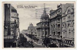 Beograd Rue Du Roi Milan Old Postcard Posted 1934 Bb200701 - Serbia