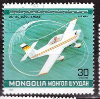 PIA - MONGOLIA - 1980  - Campionato Del Mondo Di Acrobazie Aeree - Aereo RS-180--SPORTS-MAN . R.F.A. - (Yv P.A. 123) - Mongolie
