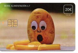 ISN-257 SPAIN PHONECARD ESPAÑA ISERN SERIE ALIMENTACION Nº7 (PATATA - POTATOE )- CARD HOSPITAL TV - Basisuitgaven